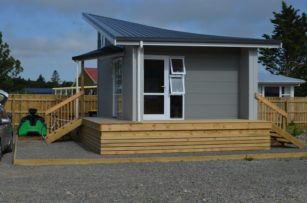 Brookside Featherston managers house exterior with home biogas